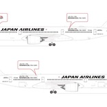 JAL、A350型機5号機に首里城応援ロゴ 2月1日から
