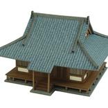 懐かしい家や、お堂やビルがさんけいのペーパークラフトで作る模型制作キットで登場!