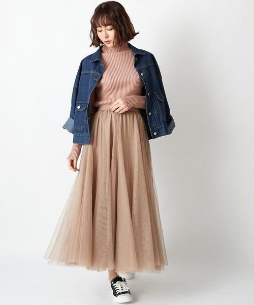 [STYLEBLOCK] ダブルチュールボリュームロングスカート