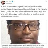 アフリカ系アメリカ人男性が人種差別訴訟のワンツーパンチ 「今回の和解金は桁が違ってくるかもね」
