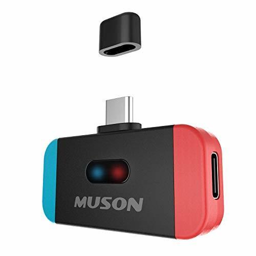 Nintendo Switch Bluetooth トランスミッター ワイヤレス レシーバー 任天堂 スイッチ 用 aptX LL対応 低遅延 TYPE-Cポート 小型 ブルートゥース 送信機 PS4 PC 車/テレビ/ワイヤレスイヤホン/ヘッドホンレシーバー 対応 MUSON MK3