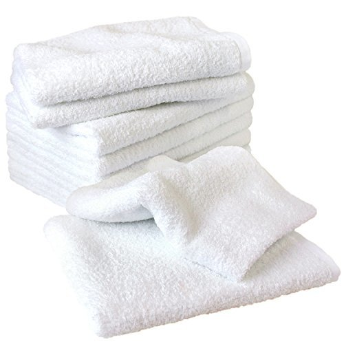 白タオル 業務用 泉州フェイスタオル 260匁 10枚セット ホワイト 日本製 泉州タオル 瞬間吸水 速乾