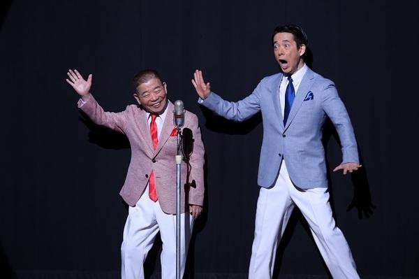 (左から)池乃めだか・西川忠志 (C)松竹