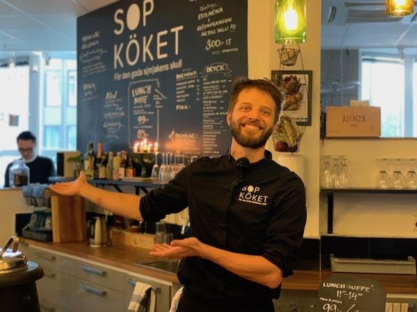 SOPKÖKET(ソップシューケット )オーナーのFilip Lundin(フィリップ・ルンディン)さん