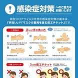 政府、新型コロナウイルス対策チラシを公開 「手洗い」と「マスクの着用を含む咳エチケット」を推奨