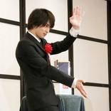 横浜流星、受賞の喜びを空手で表現! 報道陣のむちゃぶりに応え…