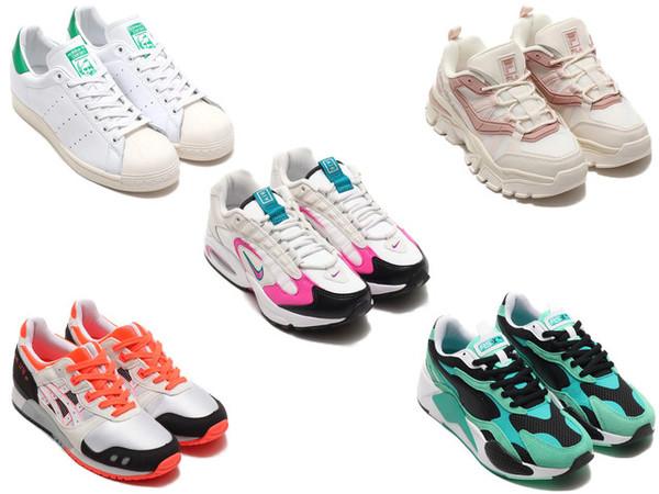 春には歩きやすいスニーカーが大活躍してくれます。東京のスニーカーシーンを牽引するスニーカーセレクトショップ「atmos(アトモス)」で、今一番売れているスニーカーをブランド別に5つご紹介します!