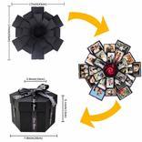 フタを開けるたびにメッセージや写真が飛び出してプレゼントも贈れるサプライズボックス