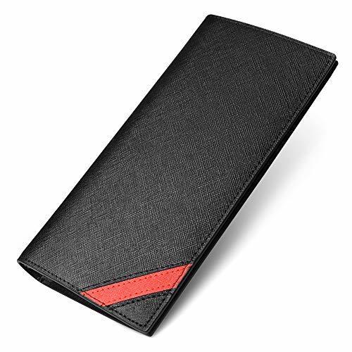 MARRY 長財布 メンズ 財布 二つ折り 本革 内アメ革 紳士 16枚カード 2つ折り財布 黒