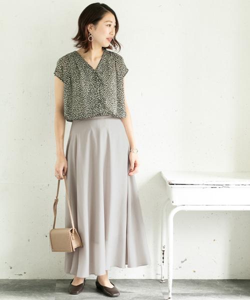 [URBAN RESEARCH ROSSO WOMEN] シアーフレアスカート
