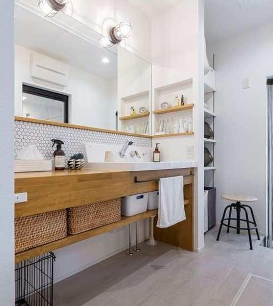 v暮らしやすい住まいの工夫:洗面所・脱衣所