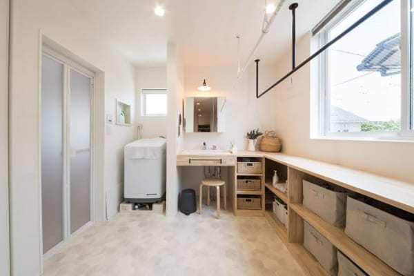 暮らしやすい住まいの工夫:洗面所・脱衣所23