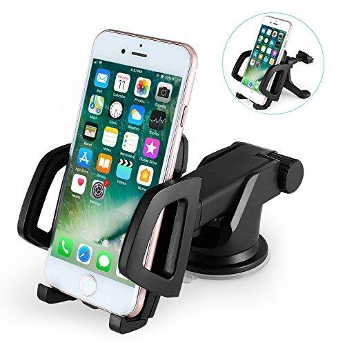車載Qi ワイヤレス充電器 車載 ホルダー-10W/7.5W急速ワイヤレス充電器車載スマホホルダー 360度回転 粘着式&吹き出し口2種類取り付 iPhone
