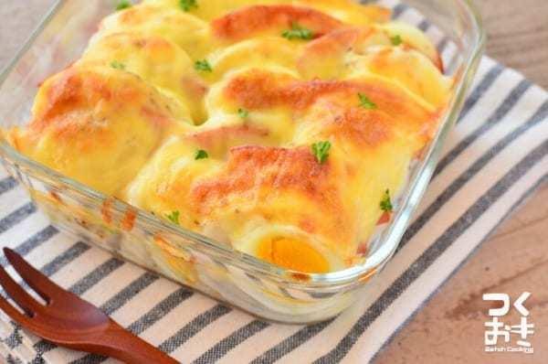 美味しいおかずに!人気の長芋と卵のグラタン