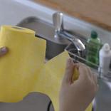 これだけで食器洗いほか、キッチン周りやバスルームなど家中の掃除に使い倒せちゃうクロス
