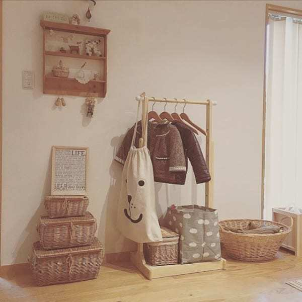 子供服のクローゼット収納アイデア《ニトリ》3