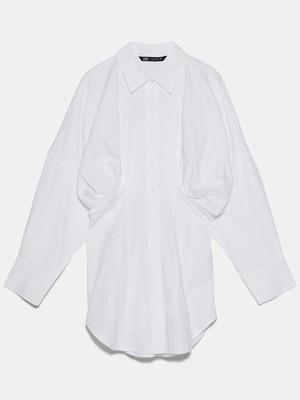 プリーツ加工入りポプリンシャツ 4990円(税込)/ZARA(ザラ)