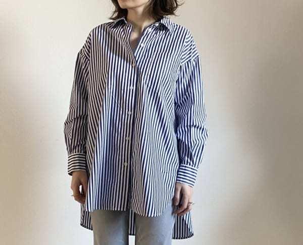 UNIQLO エクストラファインコットンオーバーサイズロングシャツ2