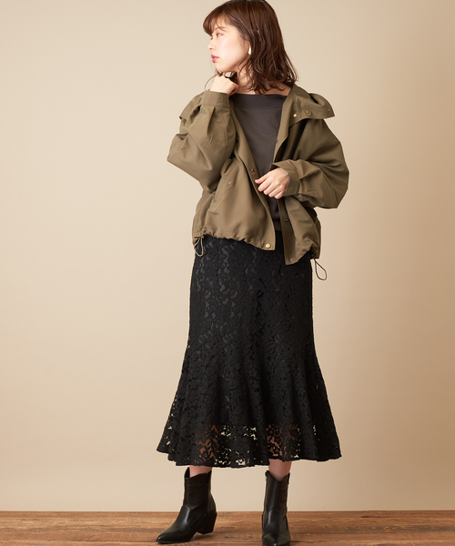 [natural couture] キルトライナー付マウンテンパーカー