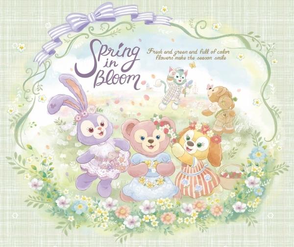 ダッフィーたちの春をテーマとしたグッズやメニュー