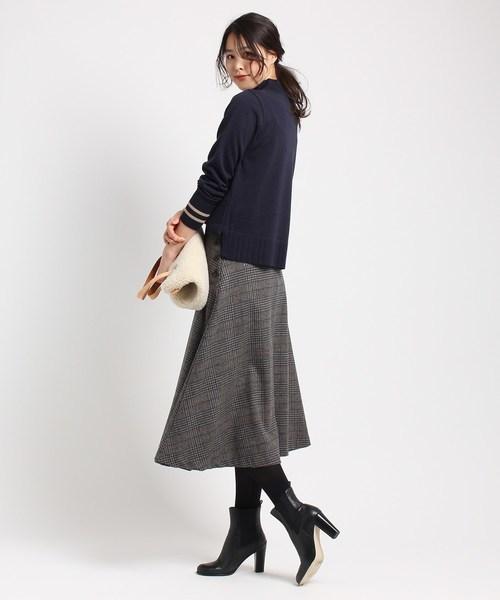 [WORLD ONLINE STORE SELECT] 【S~Lサイズあり】フラノチェックフレアスカート