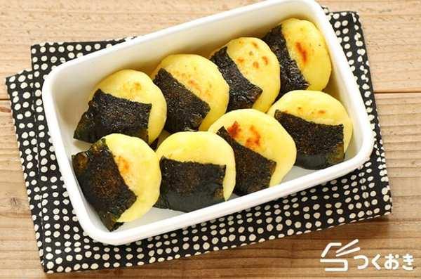 カレーうどんの副菜に!海苔巻きチーズポテト