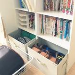 カラーボックス1段でOK! 学校の長期休みを快適に過ごす学用品収納