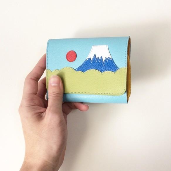 色が選べる お札が別の富士山財布