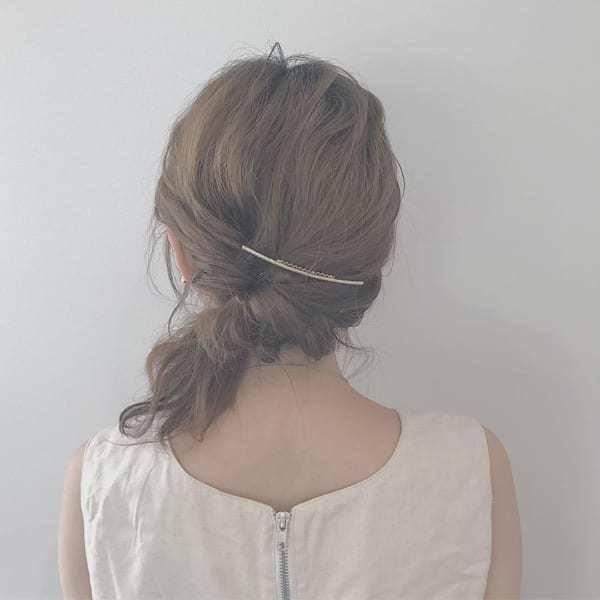 くるりんぱ2回だけのまとめ髪