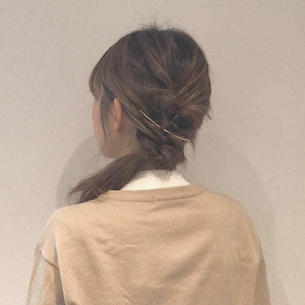 くるりんぱ3つのまとめ髪
