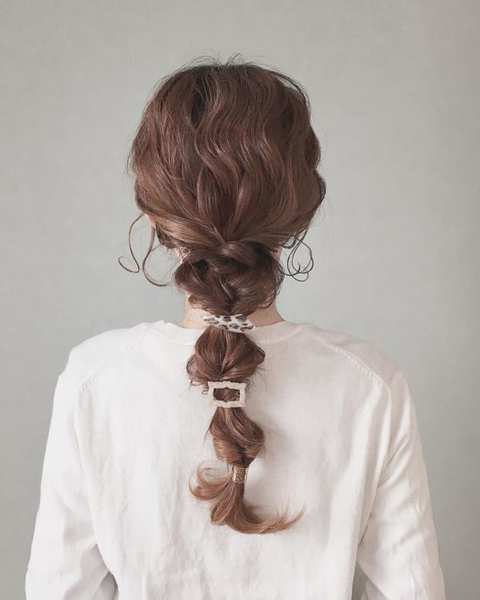 たまねぎヘアのまとめ髪