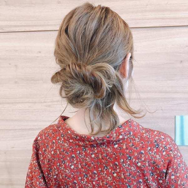 ゆるっと色っぽいまとめ髪