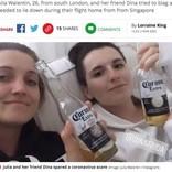 二日酔いで飛行機に搭乗した女性、ウイルス感染者と勘違いされ機内がパニックに(英)