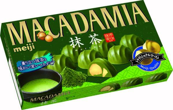 マカダミアチョコレート抹茶 参考小売価格:250円(税別)