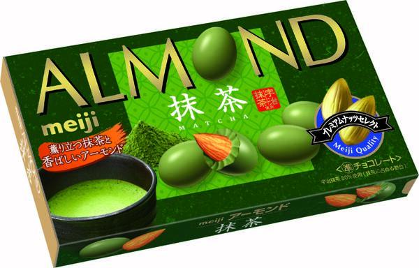 アーモンドチョコレート抹茶 参考小売価格:250円(税別)
