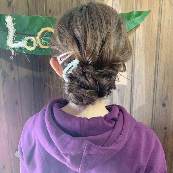 和装に合わせたいロングヘアまとめ髪アレンジ