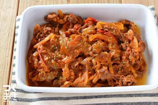 作り置きで簡単常備菜に!牛肉とトマトの炒め煮