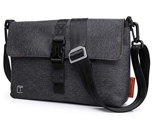 Lannsyne ショルダーバッグ サコッシュ メンズ ミニメッセジャーバッグ iPad対応 軽量 防水 カジュアルバッグ 斜め掛け 通勤 通学 ブラック