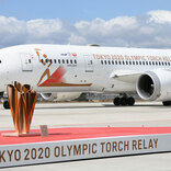 五輪の聖火乗せた特別機、松島基地に着陸 この後セレモニー開催