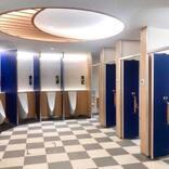 成田国際空港、第1ターミナル1階トイレをリニューアル 「花」がモチーフ