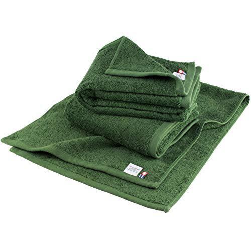 ブルーム 今治タオル レオン フェイスタオル 3枚セット サンホーキン綿 (モスグリーン) leon_ft3_mg
