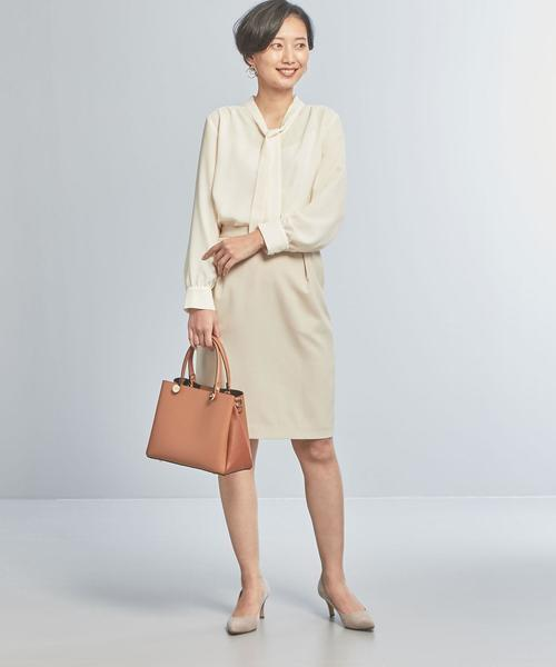 [green label relaxing] 【WORK TRIP OUTFITS】★WTO BC ボウタイ ブラウス / ストライプ / ムジ