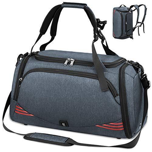 NUBILY ボストンバッグ メンズ ダッフルバッグ ジムバッグ YKK リュック 旅行 バッグ 防水 40L 3way グレーブルー