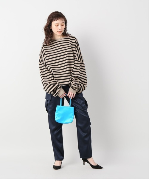[JOURNAL STANDARD] 【THE NEWHOUSE/ザ ニューハウス】STRIPE TOMBOY SWEAT SHIRT:カットソー
