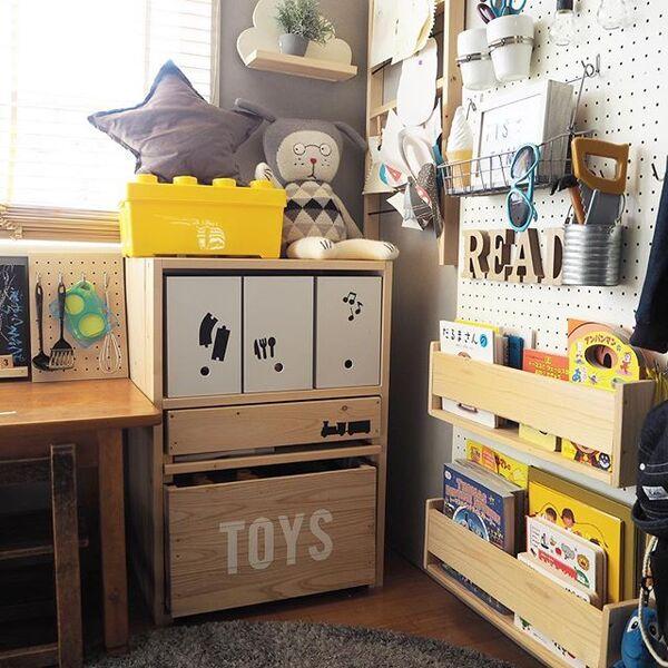 子供部屋の収納アイデア16