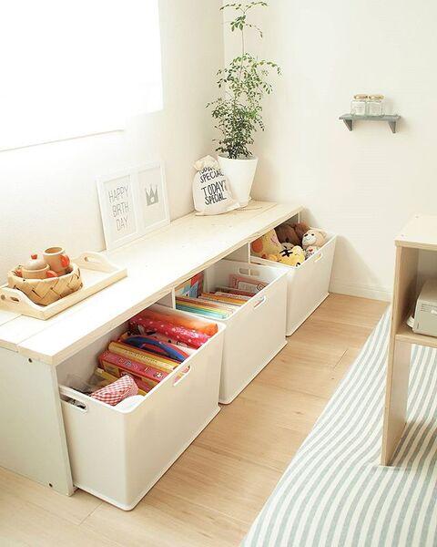 子供部屋の収納アイデア18