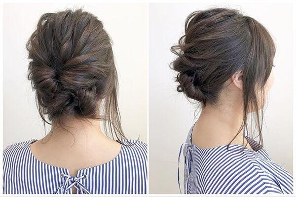 時短でできるミディアムのアップヘア
