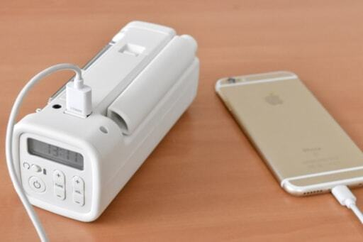 手回し充電ラジオは携帯の充電が可能