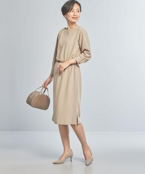 [green label relaxing] 【WORK TRIP OUTFITS】★WTO CS ジョーゼット ベルトワンピース