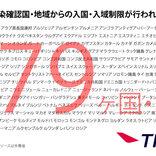 日本からの渡航者や日本人に対する入国・入境制限、入国・入域後の行動を制限している国一覧(3月30日午前10時時点)